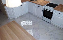отделка кухни в новостройке керамогранит